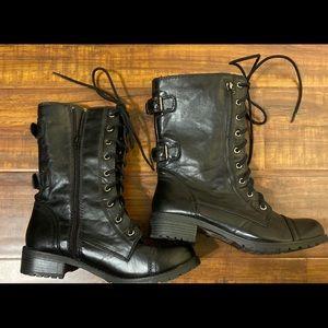 Soda black moto boots